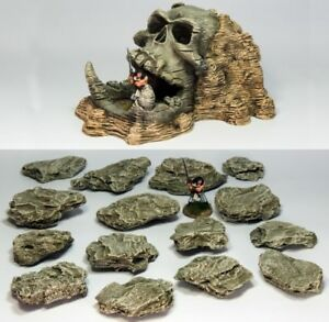/'skull GALA /& Rock Pack/' Pre Painted terrain-Ghost Archipelago Suited