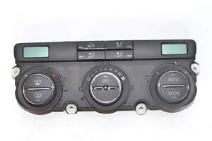 VW-Golf-5-1K-03-08-Klimabedienteil-automatische-Regelung-schwarz-Bastler
