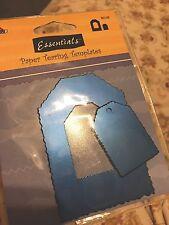 2pc Tag Metal Die Tearing Template Lot Set Fringed Edges Plaid New Scrapbook