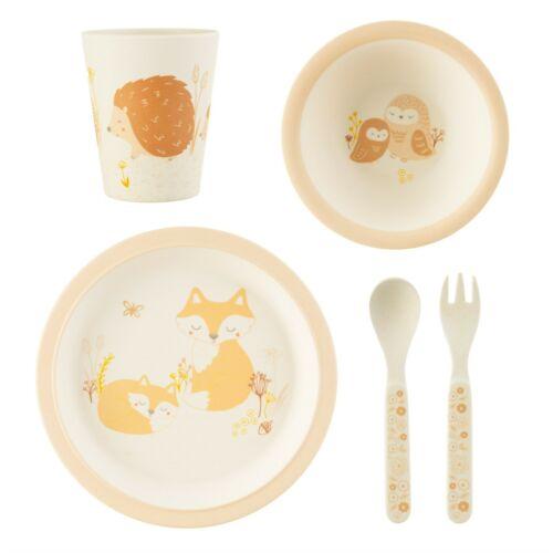 Sass /& Belle Woodland Baby Bamboo Tableware Set