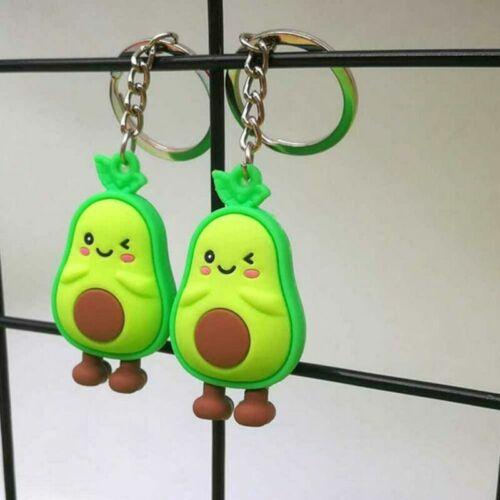 6Pcs Avocado Shaped Keychain Cartoon Key Ring Creative Keychain Backpack Hanging