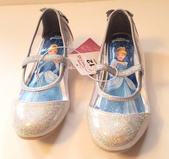 Disney Toddler Girls Princess Cinderella Ballet Flats Sparkling Shoe Size 11 NEW