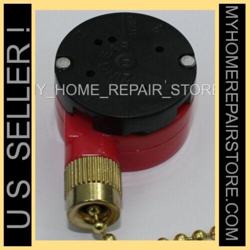 US SELLER//FREE S/&H 3 SPEED ZING EAR CEILING FAN PULLCHAIN 4 WIRE SWITCH ZE-208S