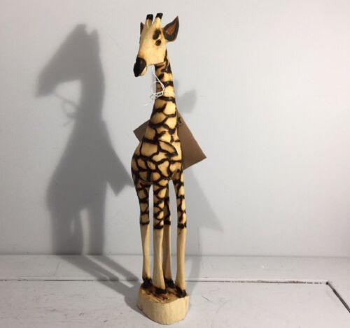 40 cm Jacaranda girafe figurine par tilnar Art-en bois