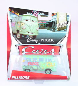 DISNEY-CARS-Radiator-Springs-FILLMORE-1-55-vw-camper-van-diecast-toy-NEW