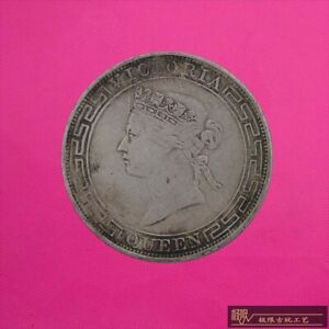 RARE-100-silver-Coin-HONG-KONG-COIN-ONE-DOLLAR-QUEEN-COIN-1YUAN
