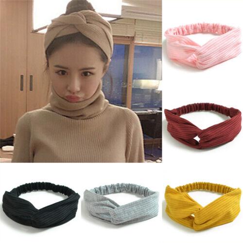 Tricoter Croix bandeau  noeud turban femme bandeau cheveux accessoire  BB