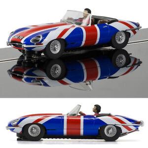 SCALEXTRIC-Slot-Car-C3878-Jaguar-E-Type-Union-Jack