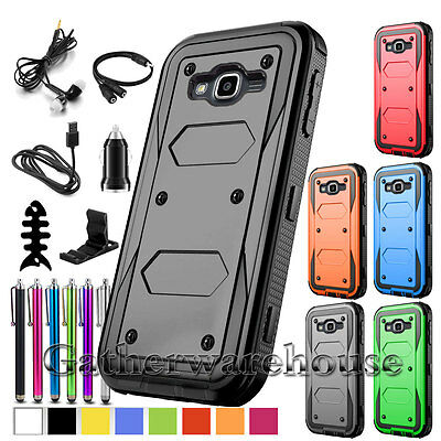 For Samsung Galaxy Phone Models Protective Armor Shockproof Case Cover+Accessory