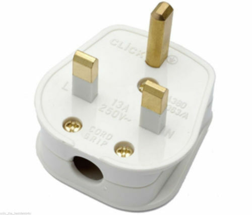 WHITE 13 AMP household fused  plug BS1363//A NEW