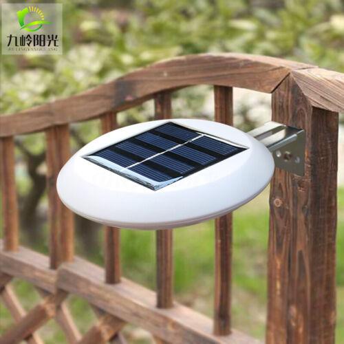 9 LED Waterproof Solar Energy Wall Fence Light Lamp Gutter Deck Garden