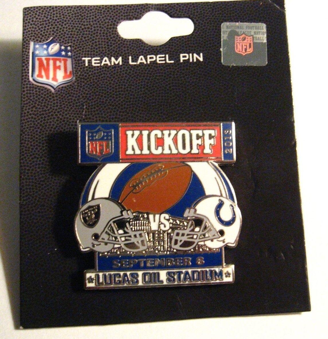 Indianapolis Colts Oakland Raiders Pin - 2013 2013 2013 NFL Lucas Oil Stadium Fútbol Pin 40789c