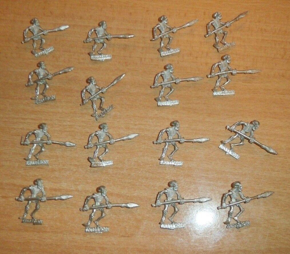 Warhammer Vampiro Conde No Muerto 16 Metal Esqueleto Spearmen Largo