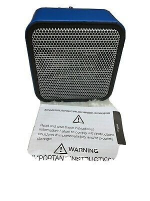 White AmazonBasics 500-Watt Ceramic Small Space Personal Mini Heater