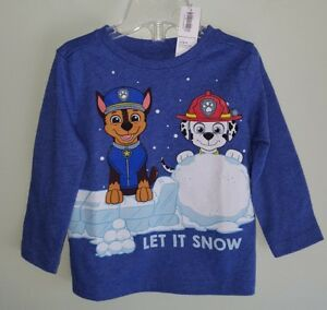 e6c105739f8 Old Navy Boys 12-18 MONTH Long Sleeve PAW PATROL Shirt WINTER Let It ...