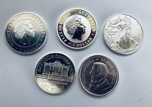 5x-1oz-SILVER-BULLION-COINS-EAGLE-KRUGERRAND-SPIDER-KOALA-PHILARMONIKA