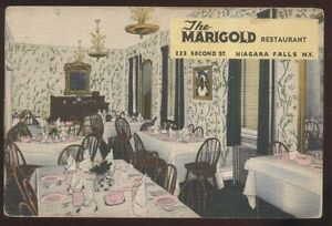 Details About Postcard Niagara Falls New York Ny Marigold Restaurant Interior View 1930 S