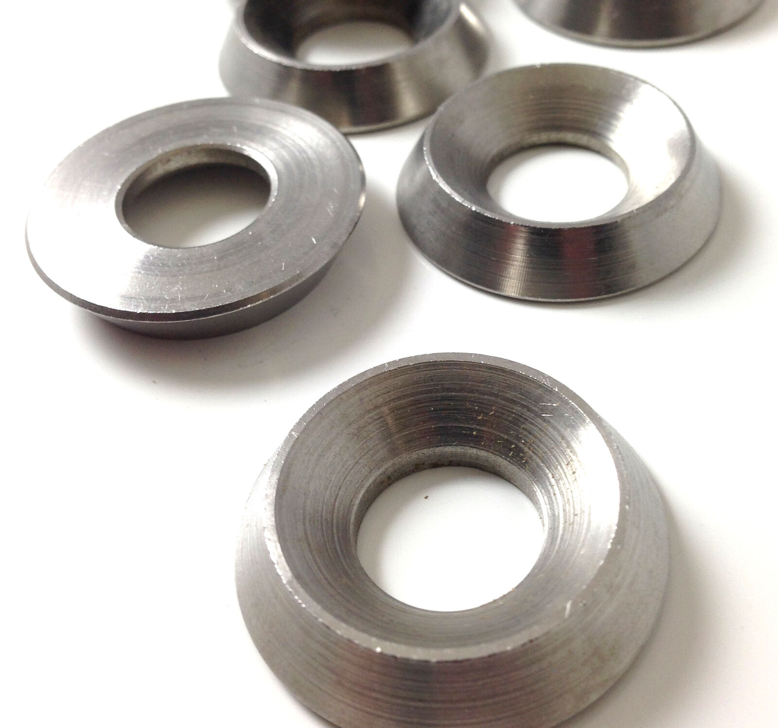M12, A4 MARINE GRADE SOLID STAINLESS STEEL TURNED FULL BODY SCREW CUP WASHERS