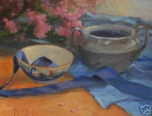 STILL-LIFE-WITH-HYDRENGAS-Original-Oil-Aycock-16X20