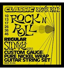 Ernie Ball 2251 Pure Nickel Wrap Guitar Strings 10-46 Classic Rock N Roll Slinky