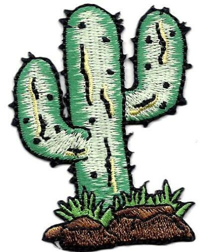 CACTUS Southwest GREEN SHADES //Iron On Embroidered Applique//Western