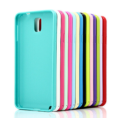 Slim Fit Silicone TPU Gel Candy Case Cover for Samsung Galaxy Note 3 III N9000