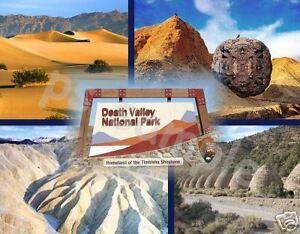 california death valley collage travel souvenir flexible fridge