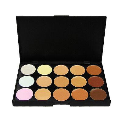 15 Colour Sheer Concealer Camouflage Palette Makeup Eyeshadow Bronzer Kit Set UK