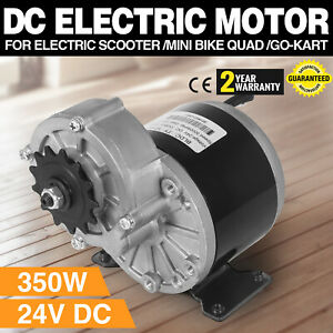 Details about 350W DC Electric Motor 24V 3000RPM Gear ratio 9 7:1 ATV  Reduction 1/2 inch pitch