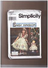 SIMPLICITY PATTERN 0697 SIZE BB 5, 6, 7, 8  CHILDS AND DOLL DRESS 19 PIECES