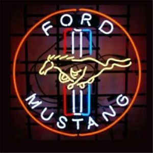 Ford Mustang Neon Light Sign Display Garage Store Beer Bar Club Signag 17 X14 Ebay