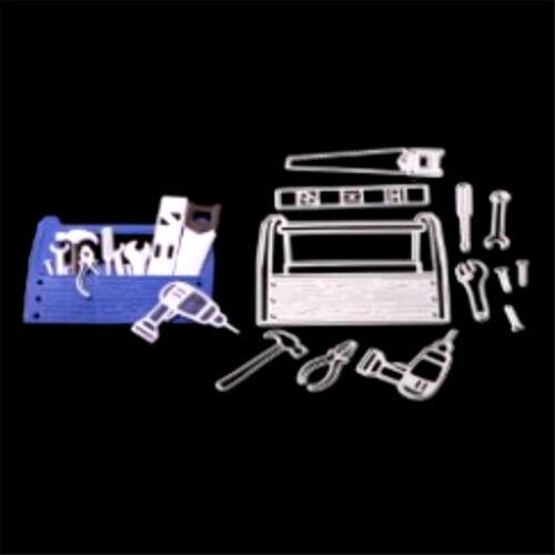 Brief 12pcs Necessities in Tool Box Cutting Dies DIY Scrapbooking Photo Craft S/&