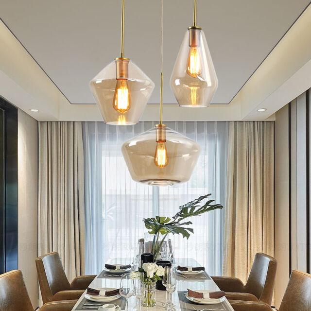 Modern Pendant Light Kitchen Ceiling Light Bar Pendant Lighting Home Glass Lamp