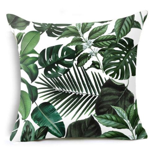 Artificielle en LIN PLANTE Throw Pillows Case Sofa Cushion Cover Home Decor