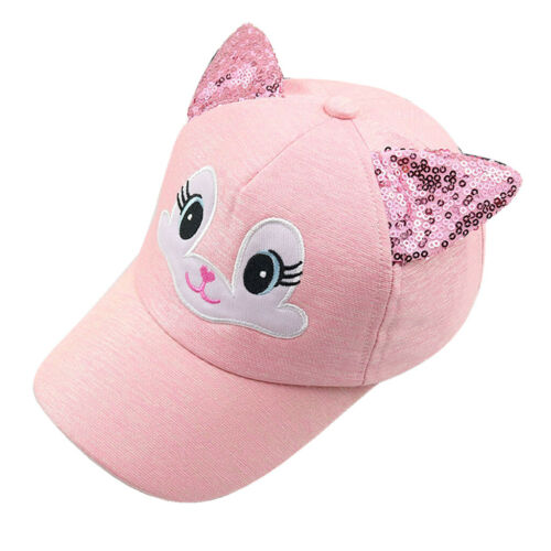 Baby Hats Cute Cartoon Cat Baseball Cap Spring Summer Boy Girl Sun Hat Beanies