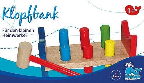 8tlg Klopfbank aus Holz Werkzeug Hammer Hammerspiel Klopfspiel Kinder Spielzeug