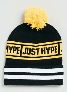 Image is loading Hype-Beanie-Hat-With-pom-pom 7169e763a04