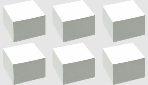 herlitz Zettelklotz 9x9cm farbig 80g//qm geleimt Notizklotz Notizzettel 700 Blatt