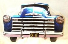 """25/"""" HUGE 1950s Cadillac red Chaddy car Grill Front End USA STEEL Metal Sign /'50s"""