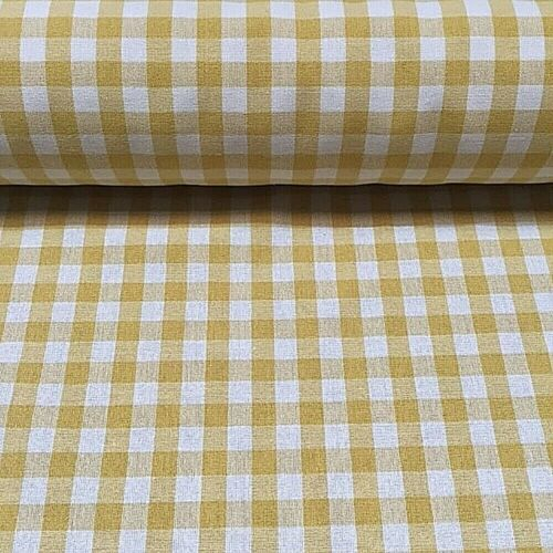 Luxury Gingham Check100/% Cotton Material Fabric9 ColoursIn Stock