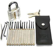 H and S® 16 Pcs Practice Lock Padlock Picking Tools Kit Training Set - BRAND