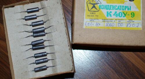10x 0.01uF 200V PIO Aluminium foil Paper in oil Capacitors K40Y-9 Lot of 10 NOS