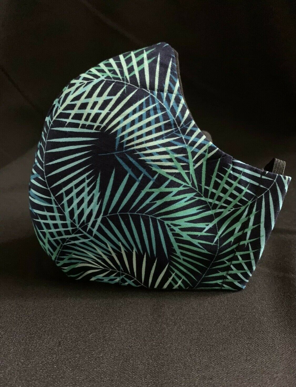 Face Mask -Handmade Funky-Fashionable-Navy Blue Jungle Trails - Cotton- Unisex