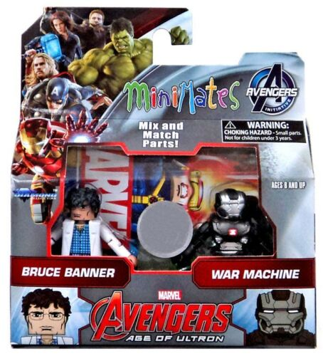Avengers Age of Ultron Bruce Banner /& Machine de guerre 2-Inch Figurine 2-Pack