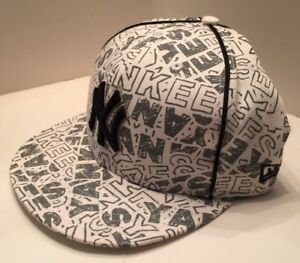 new products 1dc87 4d5f5 Image is loading New-Era-New-York-Yankees-MLB-59Fifty-Black-