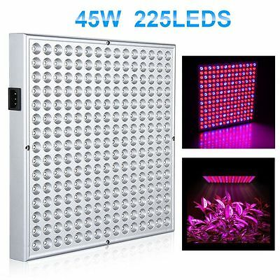 45W 225 LED Grow Light Lamp Panel Red&Blue for Flower Vegetable Hydroponic Plant