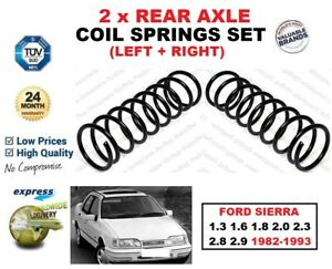 FOR FORD SIERRA 1.3 1.6 1.8 2.0 2.3 2.8 2.9 1982-1993 2X REAR AXLE COIL SPRINGS