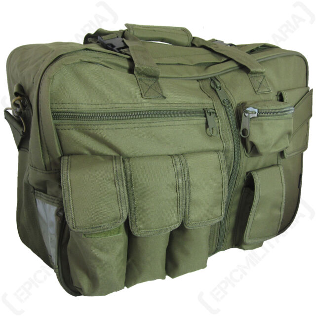 Olive Green Tactical CARGO BAG - Military Style Rucksack Backpack Carry Case 43c24386737