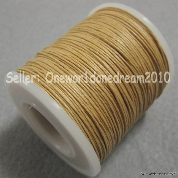 Waxed Natural Linen Thread Cord Leather Craft Diamond Chisel Sewing Sandy Brown