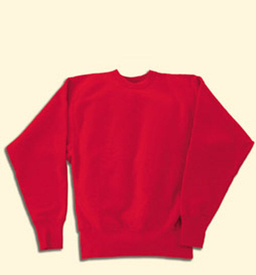 Mens Heavyweight Sweatshirt Cross-Knit Small to 6XL